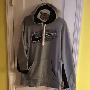 NWOT Nike Therma Fit Training Hoodie szM Gray/Navy